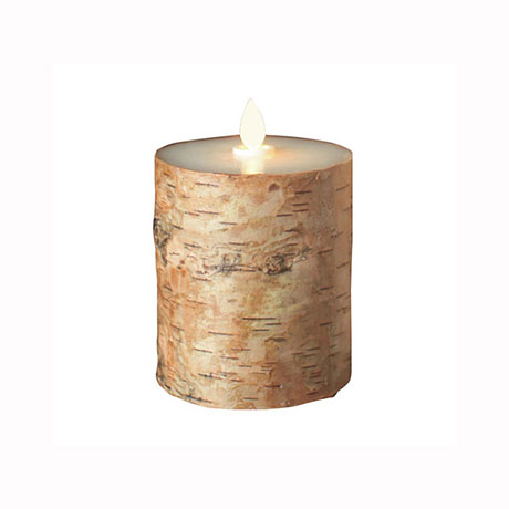 Aroma Led Pillar Candle Birch Bark 13cm