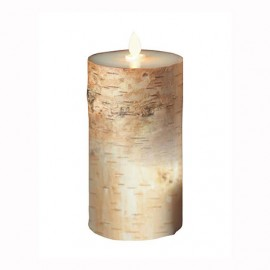 Aroma Led Pillar Candle Birch Bark 18cm