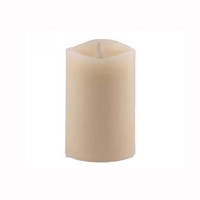 Aroma Led Pillar Candle Smooth Ivory 13cm