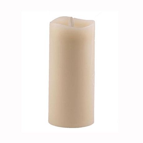 Aroma Led Pillar Candle Smooth Ivory 18cm
