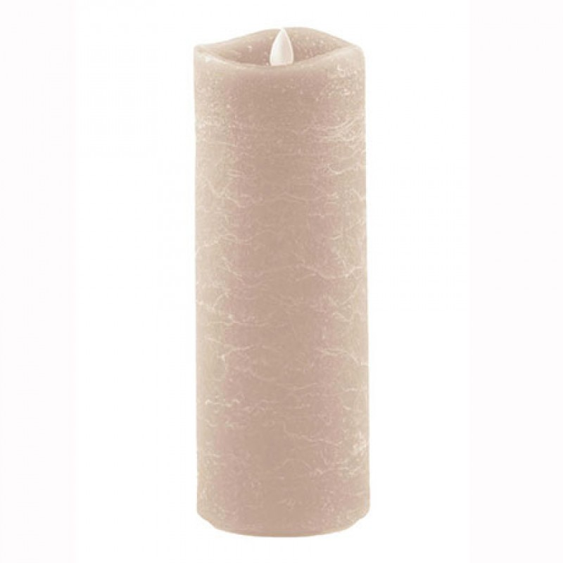 Aroma Led Pillar Candle Artisan Ivory 23cm