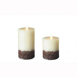 Aroma Led Pillar Candle Coffee 18cm