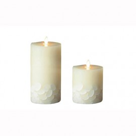 Aroma Led Pillar Candle Seashell 13cm