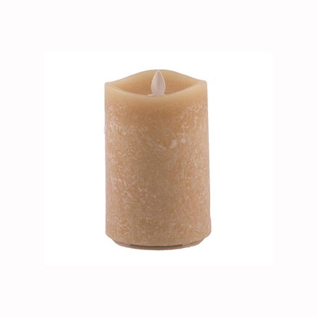 Aroma Led Pillar Candle Honey 13cm