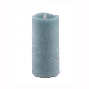 Aroma Led Pillar Candle Artisan Navy 18cm