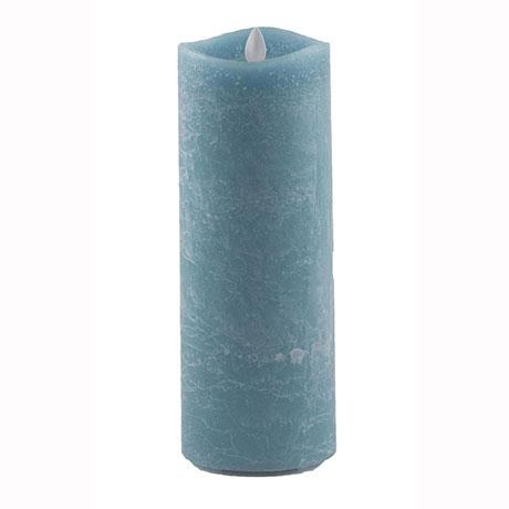 Aroma Led Pillar Candle Artisan Navy 23cm
