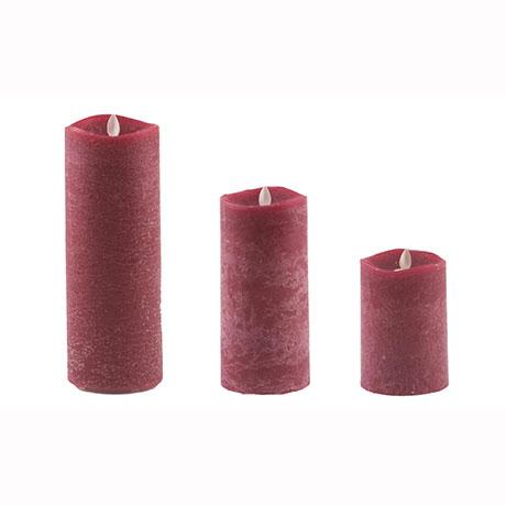 Aroma Led Pillar Candle Artisan Berry 23cm
