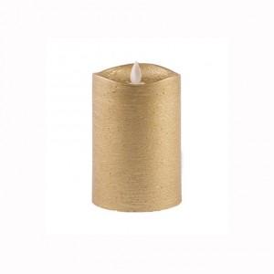 Aroma Led Pillar Candle Metallic Gold 13cm