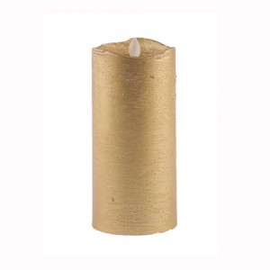 Aroma Led Pillar Candle Metallic Gold 18cm