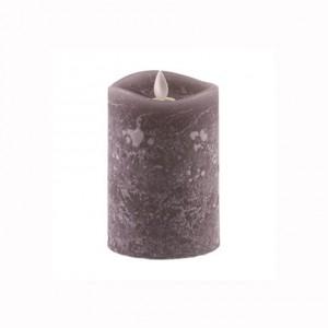 Aroma Led Pillar Candle Charcoal 13cm