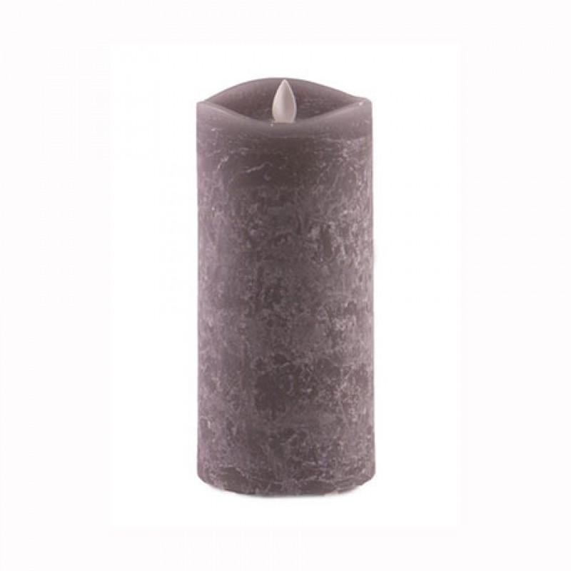Χειροποίητο Κερί Κορμός Led Ξυλάνθρακας 18cm