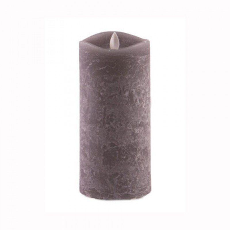 Aroma Led Pillar Candle Charcoal 18cm