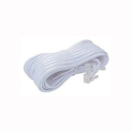 Telephone Extension Cable 6P4C (line's) 5m White