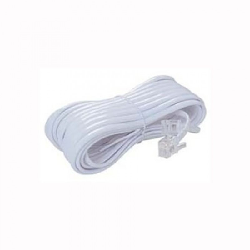 Telephone Extension Cable 6P4C (line's) 10m White