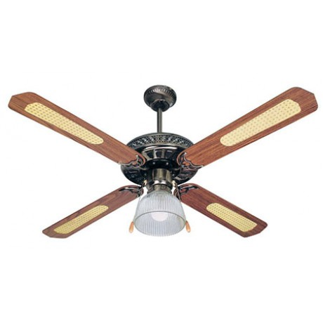 Ceiling Fan with 1 Light 70W Bronze (1123)