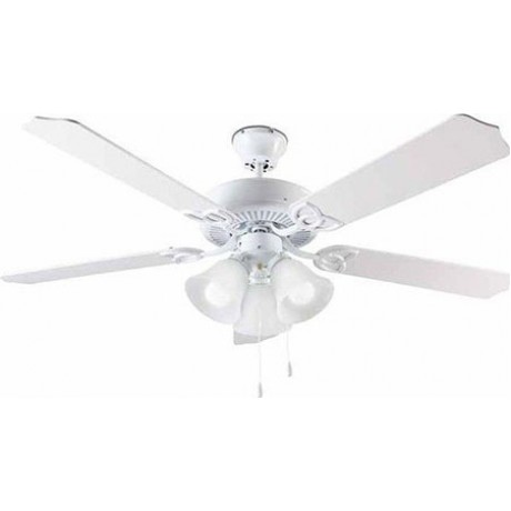Ceiling Fan with 4 Lights 70W White (1137)