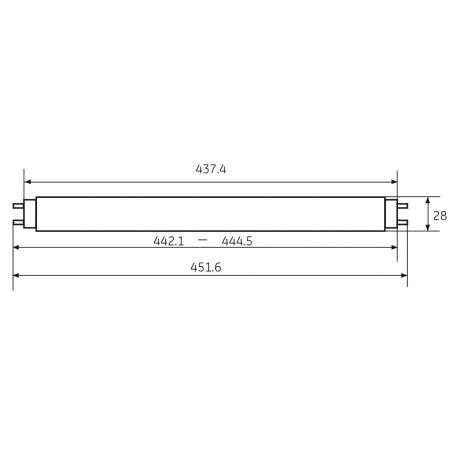 Fluorine Lamp T8 15W/865 General Electric