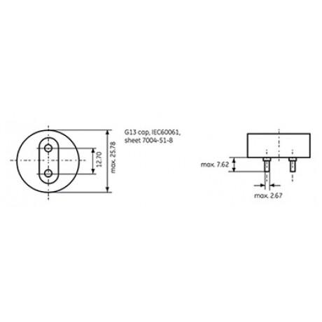 Fluorine Lamp T8 58W/860 General Electric