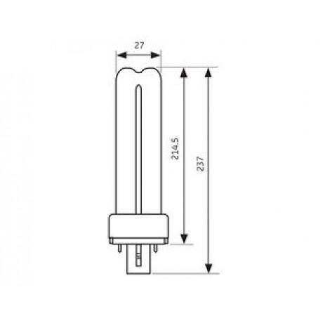PL Lamp BX-2P 11W/865 General Electric