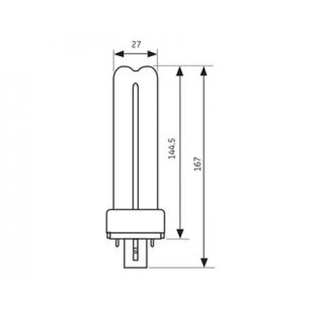 PL Lamp BX-2P 9W/830 General Electric