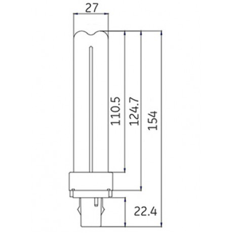PL Lamp Biax-D 18W/865 General Electric