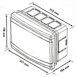 Flush mounted Distribution Board 9 Modules