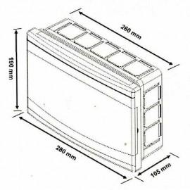Flush mounted Distribution Board 12 Modules