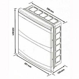 Flush mounted Distribution Board 24 Modules