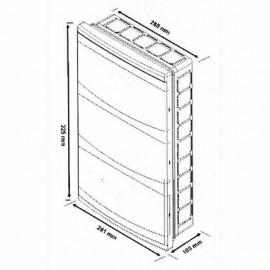 Flush mounted Distribution Board 36 Modules