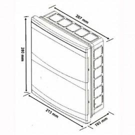 Flush mounted Distribution Board 18 Modules