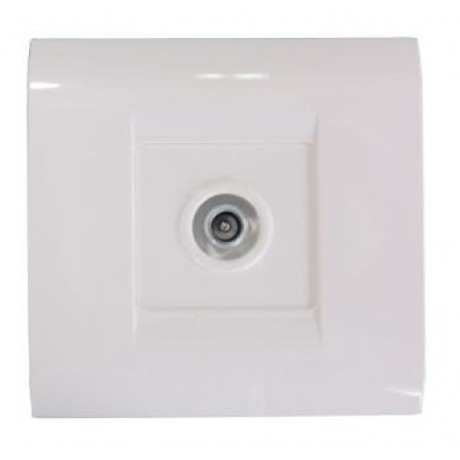 TV Socket Coaxial Flush mounted Sweet Line White