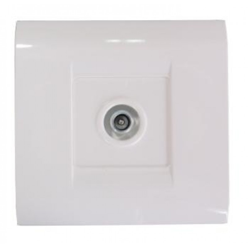 TV Socket Coaxial Flush mounted Sweet Line White