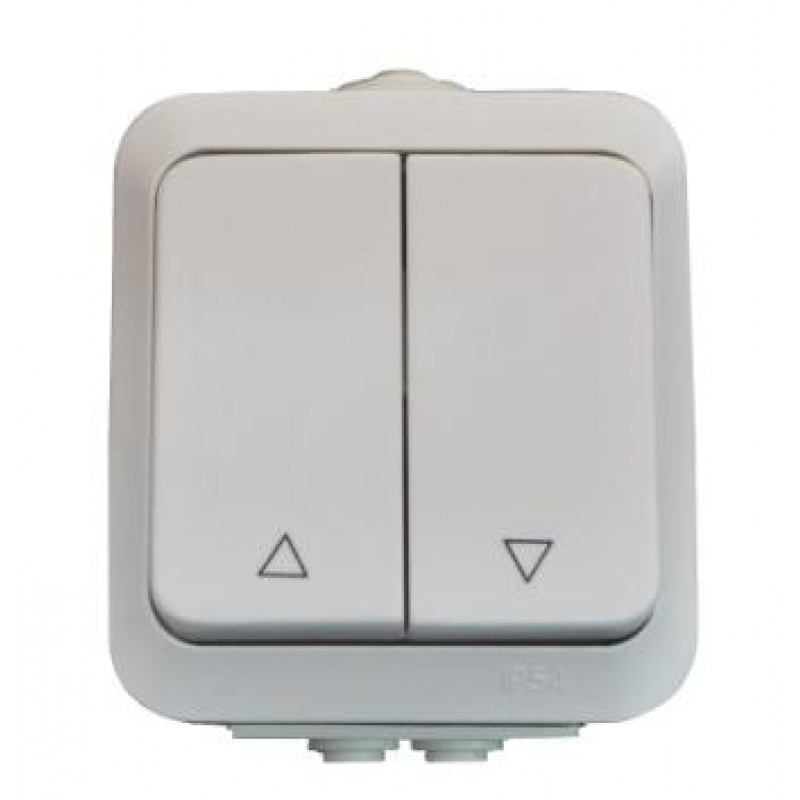 Roll Buttons Wall mounted IP54 Aqua Line White