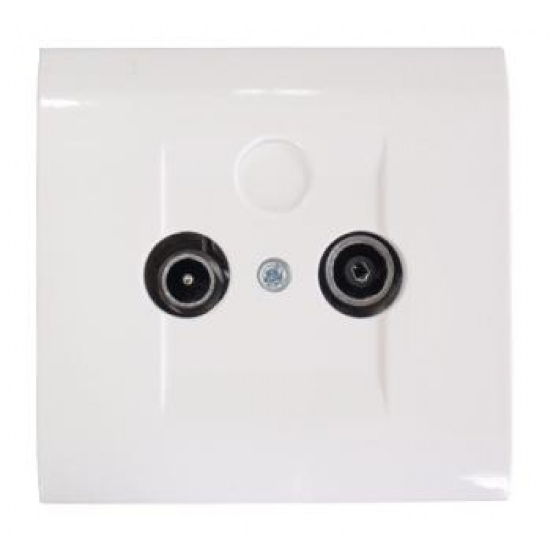 TV Socket Crossing Flush mounted Sweet Line White