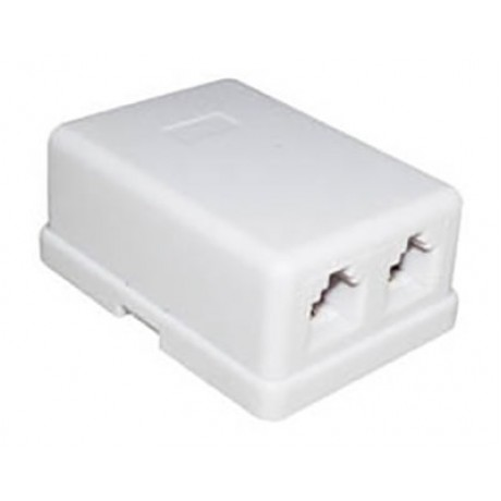 Telephone socket External Double (Self-adhesive)